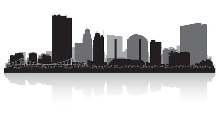 Toledo Ohio city skyline silhouette illustration Stock Vector - 22035115