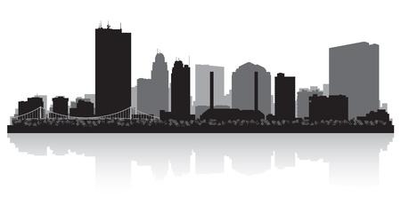 Toledo Ohio city skyline silhouette illustration Stock Vector - 22035115