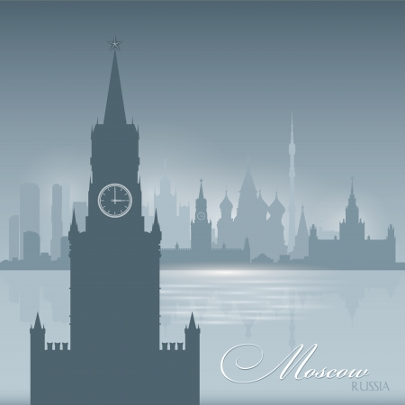 Moscow Russia skyline city silhouette. Vector illustration Background Vector