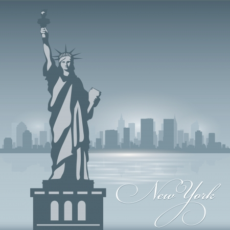 New York skyline city silhouette. Vector illustration Background Vector