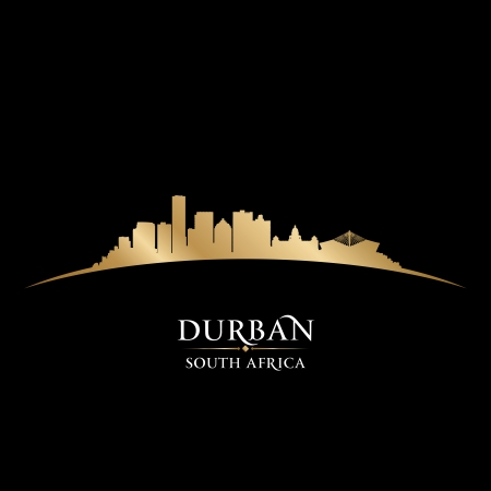 Durban South Africa city skyline silhouette. Vector illustration Stock Vector - 22598663