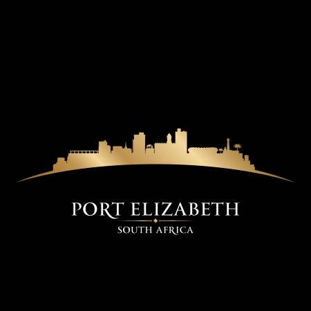 Port Elizabeth South Africa city skyline silhouette. Vector illustration Stock Vector - 22598668