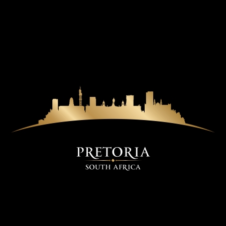 Pretoria South Africa city skyline silhouette. Vector illustration Stock Vector - 22598666