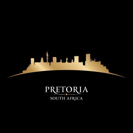 Pretoria South Africa city skyline silhouette. Vector illustration Stock Vector - 22598666
