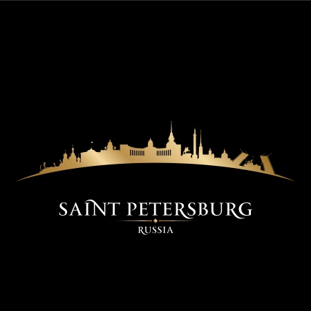 Saint Petersburg Russia city skyline silhouette. Vector illustration Stock Vector - 22598669