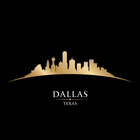 Dallas Texas city skyline silhouette. Vector illustration Vector