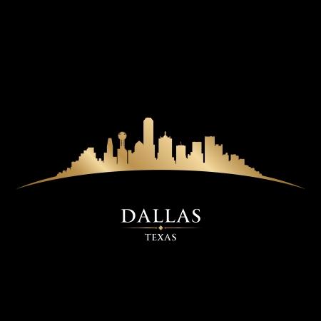 dallas: Dallas Texas city skyline silhouette. Vector illustration