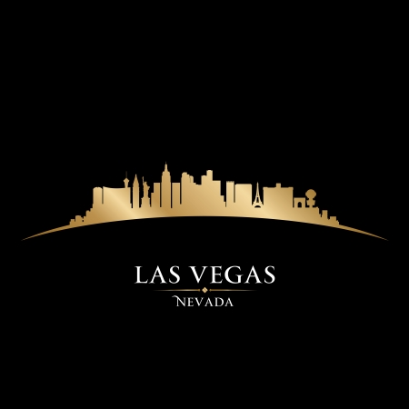 usa cityscape: Las Vegas Nevada city skyline silhouette. Vector illustration