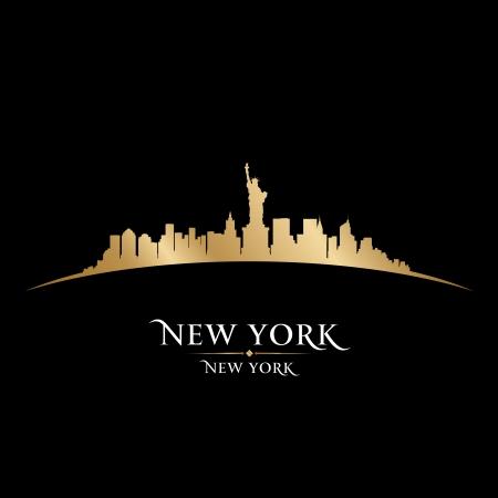 ニューヨーク市のスカイラインのシルエット。ベクトル イラスト