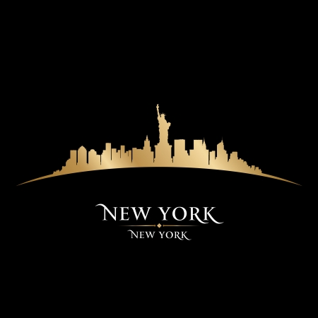 new york: New York city skyline silhouette. Vector illustration Illustration
