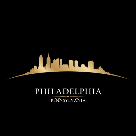 Philadelphia Pennsylvania city skyline silhouette. Vector illustration Stock Vector - 22598681
