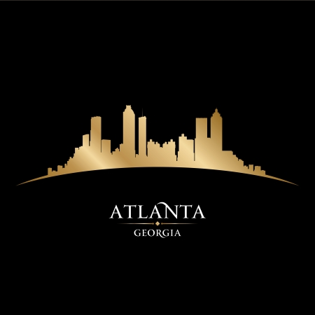 atlanta: Atlanta Georgia city skyline silhouette  Vector illustration Illustration