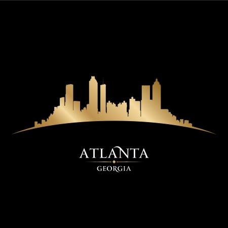 Atlanta Georgia city skyline silhouette  Vector illustration Ilustracja