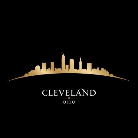 city: Cleveland Ohio horizonte de la ciudad silueta ilustración vectorial Vectores