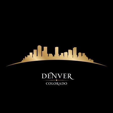 Денвер: Денвере, штат Колорадо городской пейзаж силуэт векторные иллюстрации Иллюстрация