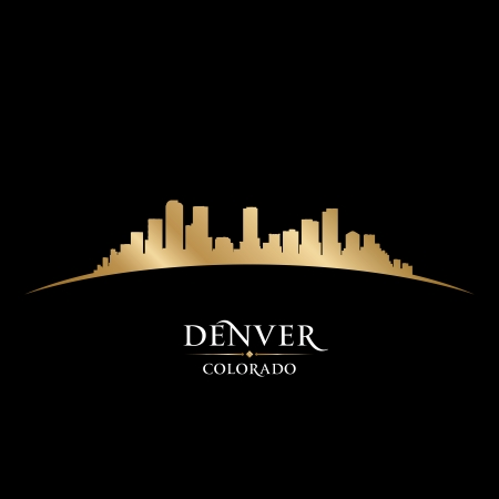 Denver Colorado city skyline silhouette  Vector illustration Vector