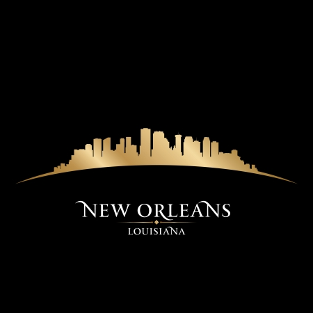 New Orleans Louisiana city skyline silhouette  Vector illustration Vector