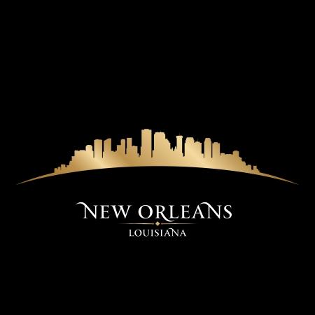 New Orleans Louisiana city skyline silhouette  Vector illustration