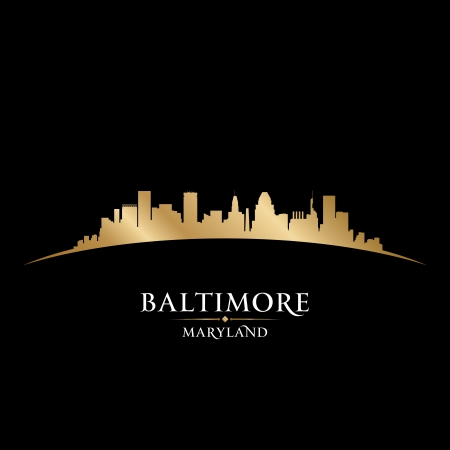 Baltimore Maryland city skyline silhouette. Vector illustration Vector