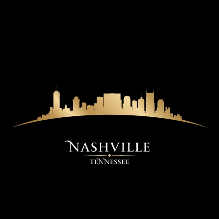Nashville Tennessee city skyline silhouette. Vector illustration Illustration