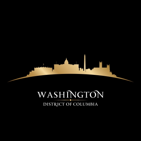 Washington DC city skyline silhouette. Vector illustration Stock Vector - 22726469