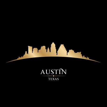 Austin テキサス都市のスカイラインのシルエット。ベクトル イラスト
