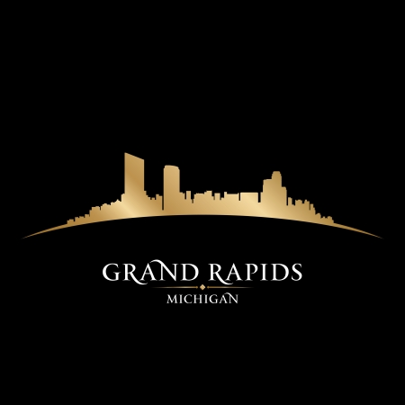 Grand Rapids Michigan city skyline silhouette. Vector illustration Stock Vector - 22726527