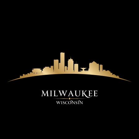 Milwaukee Wisconsin city skyline silhouette. Vector illustration Stock Vector - 22726531
