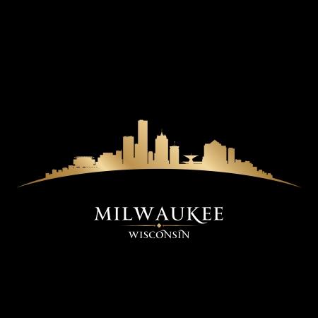 milwaukee: Milwaukee Wisconsin city skyline silhouette. Vector illustration Illustration