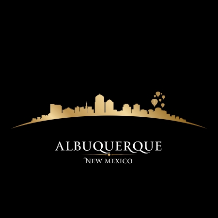 Albuquerque New Mexico city skyline silhouette. Vector illustration Vector