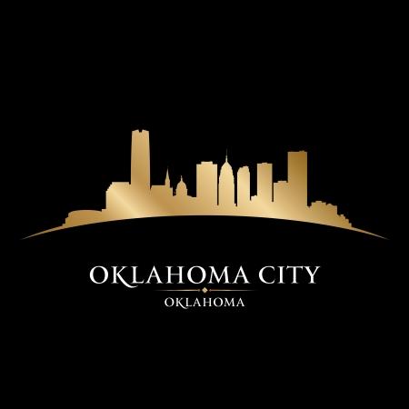 oklahoma: Oklahoma city skyline silhouette. Vector illustration Illustration