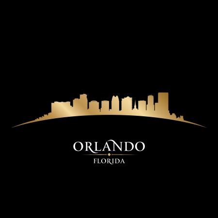 Orlando en Floride horizon de la ville silhouette. Vector illustration Vecteurs