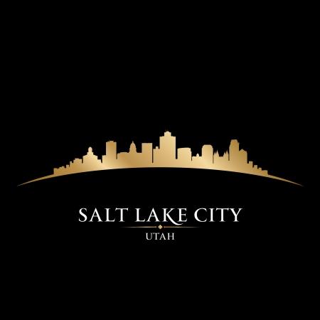 salt: Salt Lake city Utah skyline silhouette. Vector illustration