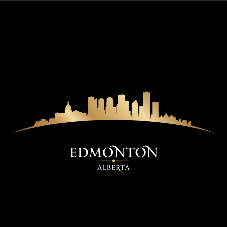 edmonton: Edmonton Alberta Canada city skyline silhouette. Vector illustration Illustration