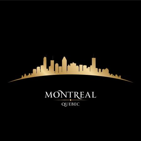 カナダ ケベック州モントリオール市のスカイラインのシルエット。ベクトル イラスト  イラスト・ベクター素材