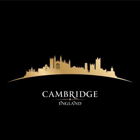 Cambridge England city skyline silhouette. Vector illustration