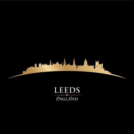 leeds: Leeds England city skyline silhouette. Vector illustration Illustration