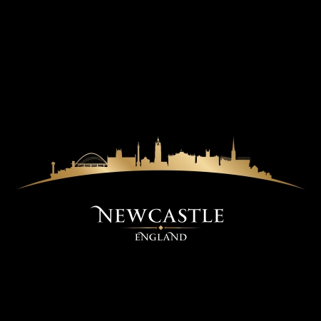 Newcastle England city skyline silhouette. Vector illustration Stock Vector - 22868648