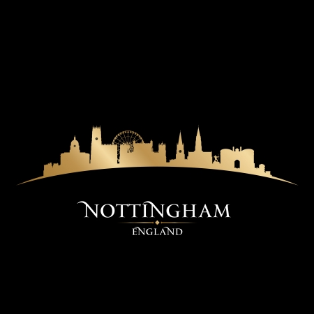 Nottingham England city skyline silhouette. Vector illustration Stock Vector - 22868644