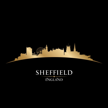 Sheffield England city skyline silhouette. Vector illustration Stock Vector - 22868643