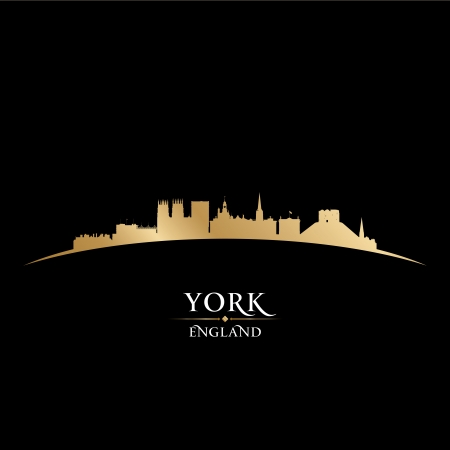 York England city skyline silhouette. Vector illustration Vector