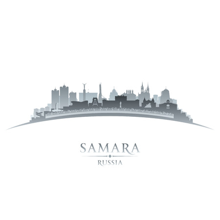 Samara Russia city skyline silhouette. Vector illustration Stock Vector - 24467490