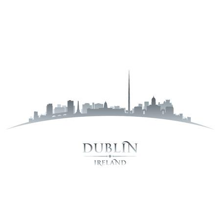 dublin: Dublin Ireland  city skyline silhouette. Vector illustration