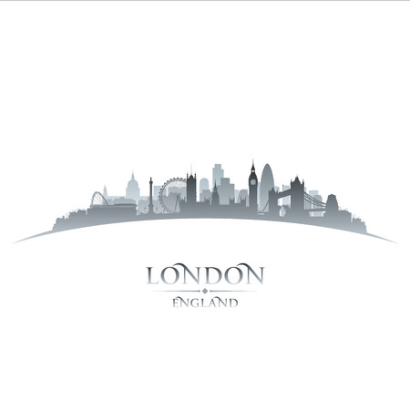 london skyline: London England city skyline silhouette. Vector illustration Illustration