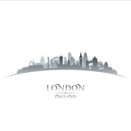 ciudad: Londres Inglaterra ciudad silueta. Ilustración vectorial