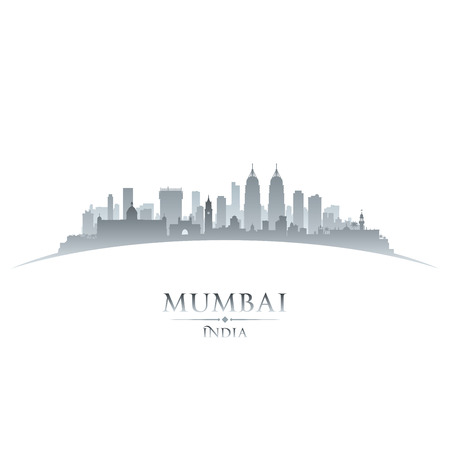 Mumbai India city skyline silhouette. Vector illustration Stock Vector - 24475825