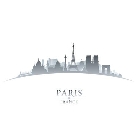 Parijs Frankrijk stad skyline silhouet. Vector illustratie Stock Illustratie