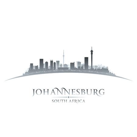 ヨハネスブルグの南アフリカ都市スカイライン シルエット。ベクトル イラスト