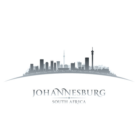 johannesburg: Johannesburg South Africa city skyline silhouette. Vector illustration Illustration