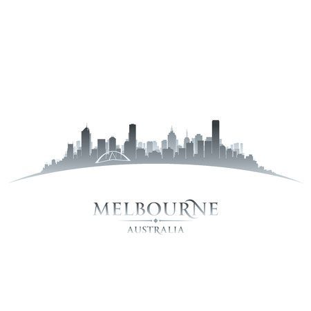Melbourne Australia city skyline silhouette. Vector illustration Illustration